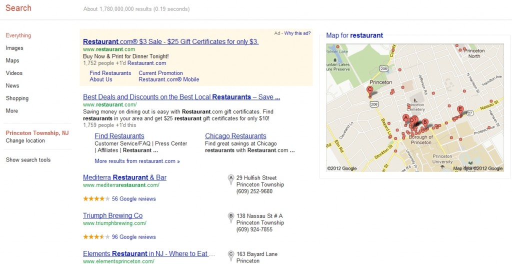 Local Search, Google Places